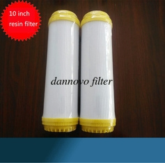 "China 10"" Resin Water Filter Cartridge Ion Exchange Water Softner Resin Filter Cartridge supplier"